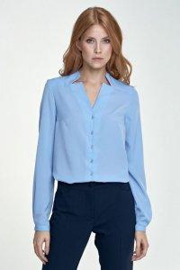 Bluzka z wycięciami - błękit - B71