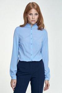 Bluzka ze stójką - błękit - B72