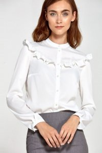 Bluzka z falbankami- ecru - B82