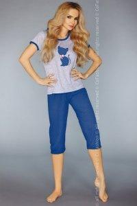 MODEL 718 DARK BLUE piżama