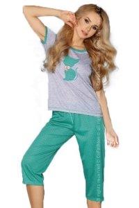 MODEL 718 GREEN piżama