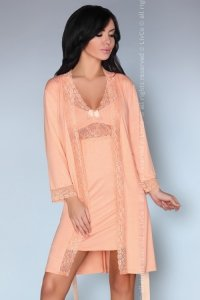 Shirleena LC 90381 Kore Peach Collection szlafrok i koszulka