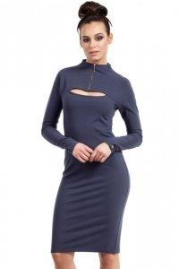 B008 sukienka niebieska