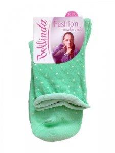 1 BE496892 Fashion skarpetki damskie kropki mięta