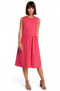 B080 Sukienka midi różowa