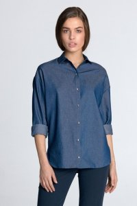 Koszula oversize - jeans - K53