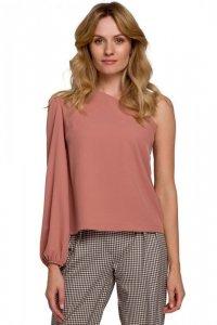 K080 Bluzka na jedno ramię - różana