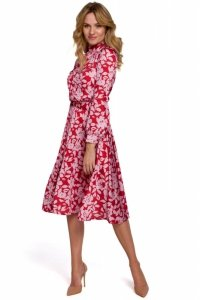 K084 Sukienka z rozcięciem na plecach - model 1