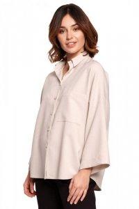 B191 Koszula oversize - beżowa