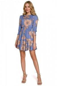 K097 Sukienka mini z wysokim pasem - model 1