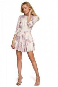 K097 Sukienka mini z wysokim pasem - model 3