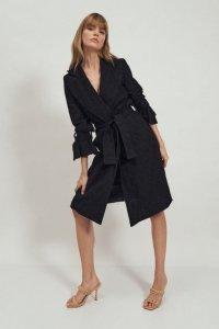 Koronkowy czarny płaszcz  - PL14