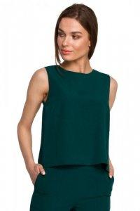 S257 Bluzka bez rękawów - zielona
