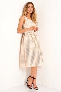 Sukienka L398 beżowy