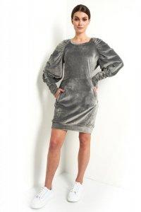 Sukienka L408 grafit