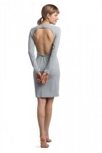 LA060 Sukienka z wycięciem na plecach - popielata