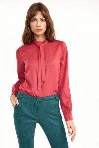 Różowa bluzka z fontaziem - B138