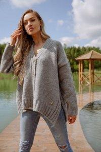Sweter LS344 szary