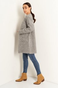 Sweter LS346 szary