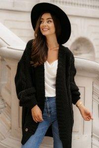 Sweter LS353 czarny