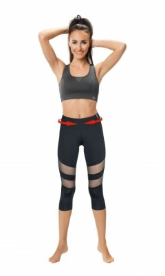 SLIMMING CAPRI WITH MESH PANELS Model 2 CLIMAline legginsy