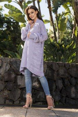 Kolorowy sweter oversize LS206 WZÓR 2