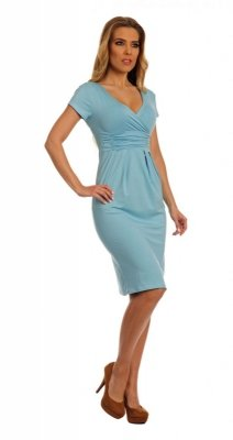 S009 / 5900 sukienka błękitny