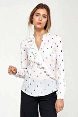 Bluzka z asymetrycznymi falbanami - łezki - B89