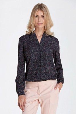 Klasyczna bluzka - łączka/czarny - CB02