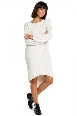 BK006 Sukienka swetrowa - beżowa