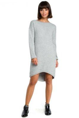 BK006 Sukienka swetrowa - szara