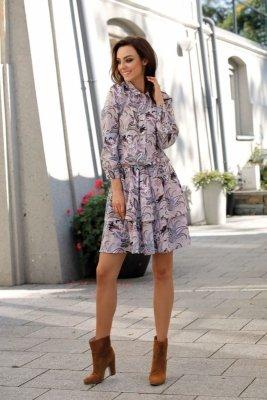 Klasyczna koszulowa sukienka L281 pantofelki