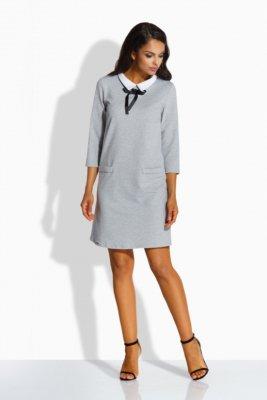 1 Sukienka L222 jasnoszary PROMO