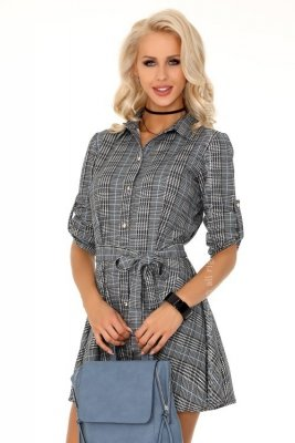 Merchea Grey Blue 85336 sukienka koszulowa
