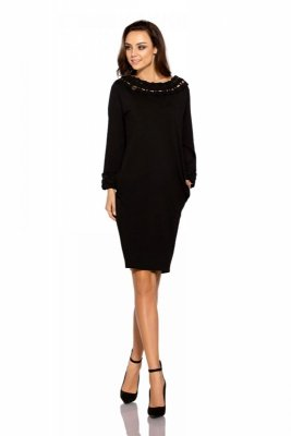 1 Sukienka L290 czarny PROMO
