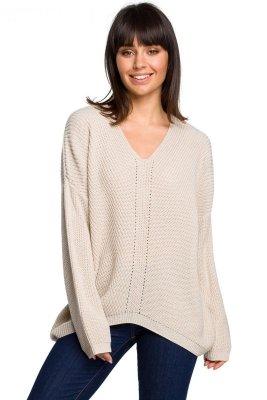 BK026 Sweter asymetryczny - beżowy