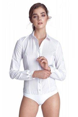 Klasyczna koszula body  - biały - K54