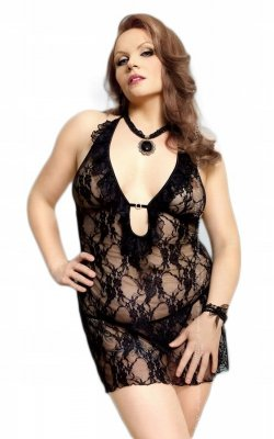 Carmen black Plus Size - 1742 koszulka i stringi