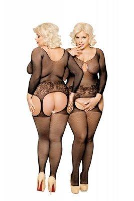 Ladybird - Black 6241 Plus Size bodystocking