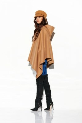 Poncho with hood LG507 kamel