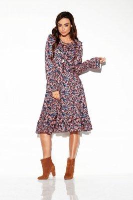 Sukienka ze sznurowanym dekoltem wzory LG505 druk 10