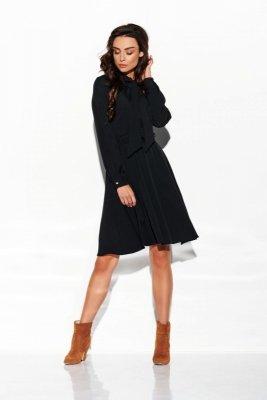 Sukienka wiązana przy szyi kolor L310 czarny