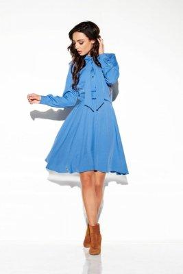 Sukienka wiązana przy szyi kolor L310 jeans