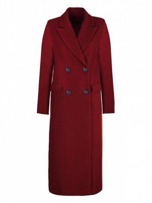 Płaszcz dwurzędowy - bordo - PL06