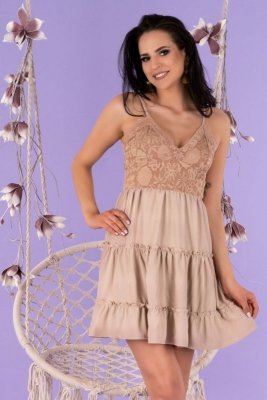 Satrian Beige D53 sukienka