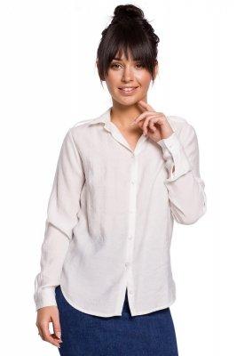 B151 Koszula z pagonami - biała