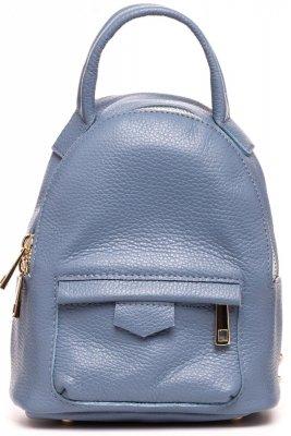 SB515 Skórzany plecak - niebieski