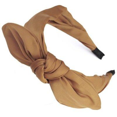 Opaska do włosów z kokardą musztardowy