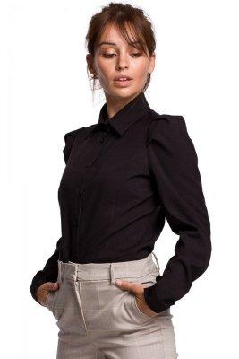 B165 Koszula z bufkami - czarna