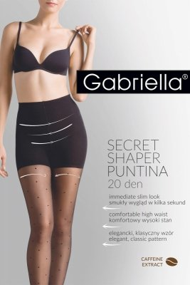 Gabriella Secret Shaper Puntina 20 Den code 680 rajstopy wyszczuplające w kropki